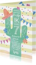 Kinderfeestjes - Kinderfeestje fiësta uitnodiging