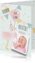 Kinderfeestjes - Kinderfeestje flamingo hip foto