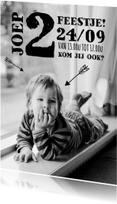 Kinderfeestjes - Kinderfeestje foto stoer pijl