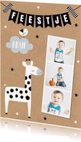 Kinderfeestjes - kinderfeestje fotocollage giraf slinger