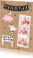 Kinderfeestjes - Kinderfeestje giraf meisje fotocollage - LB