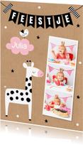 Kinderfeestjes - Kinderfeestje giraf meisje fotocollage