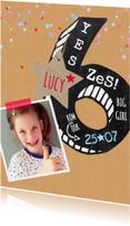 Kinderfeestjes - Kinderfeestje meisje 6 krijtbord