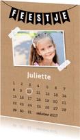 Kinderfeestjes - Kinderfeestje meisje kalender foto - LB