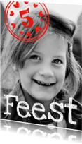 Kinderfeestjes - Kinderfeestje stempel rood