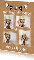 Kinderfeestjes - Kinderfeestje uitnodiging karton fotokaart