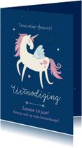 Kinderfeestjes - Kinderfeestje uitnodiging unicorns forever