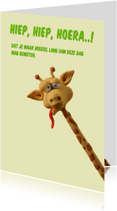 Verjaardagskaarten - Kinderkaart gekke giraf