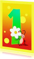 Kinderkaarten - kinderkaart Hoera 1 jaar
