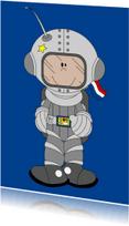 Kinderkaarten - Kinderkaart jongetje als astronaut.