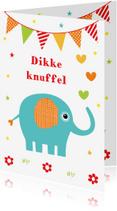 Kinderkaarten - Kinderkaart olifant slinger