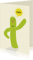 Vakantiekaarten - Kinderkaart-Swinging Cactus-HK
