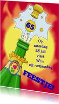 Uitnodigingen - Knalfeest met champagne grafisch b