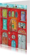 Verhuiskaarten - Knock knock