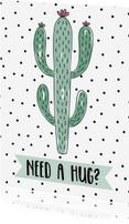 Zomaar kaarten - Knuffel Cactus - WW