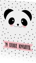Zomaar kaarten - Knuffel Panda - WW