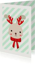 Kerstkaarten - Konijn strepen - SU