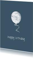 Verjaardagskaarten - krijt ballon