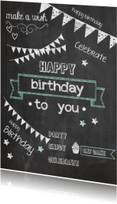 Verjaardagskaarten - krijt