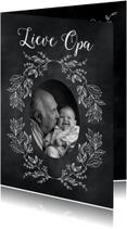 Opa & Omadag kaarten - Krijtbord bloem opa-isf