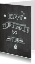 Verjaardagskaarten - krijtbord