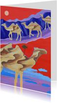 Kunstkaarten - Kunst, Egypte en kamelen -AZ