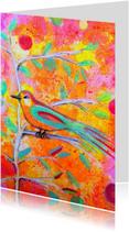 Kunstkaarten - Kunst Vogeltje in sprookje - AS
