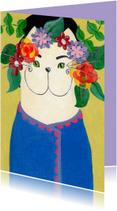 Kunstkaarten - Kunstkaart Kat uit Hongarije