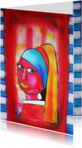 Kunstkaarten - Kunstkaart Meisje met de Parel PA