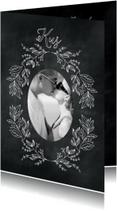 Liefde kaarten - Kus krijtbord-isf