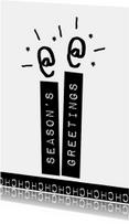 Zakelijke kerstkaarten - Label kaarsen wit - BK