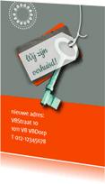 Verhuiskaarten - Label sleutel prints eigen tekst