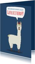 Verjaardagskaarten - Lama gewoon meteen zeggen, gefeliciteerd!