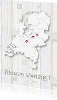 Verhuiskaarten - Landkaart verhuiskaart met pijl
