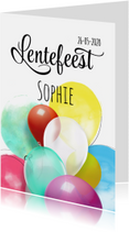 Communiekaarten - Lentefeest ballonnen SG