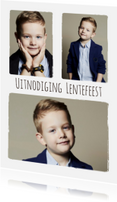 Communiekaarten - Lentefeest collage 3 foto's - BK