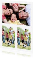 Ansichtkaarten - Leuke Fotokaart staand 3 foto's