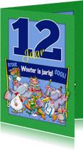 Verjaardagskaarten - Leuke verjaardagskaart met aanpasbare cijfers 12