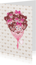 Liefde kaarten - Liefde Ballonbeertjes - TJ