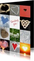 Liefde kaarten - Liefde hartenkaart