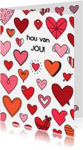 Liefde kaarten - Liefde Hartjes