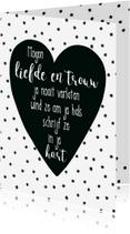 Liefde kaarten - Liefde kaart bijbeltekst Spreuken 3 - WW