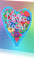 Liefde kaarten - Liefde kaart Dikke Zoen! PA