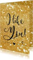 Liefde kaarten - Liefde kaart I like you - BF