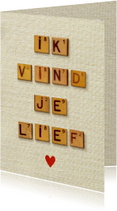 Liefde kaarten - Liefde vintage letters