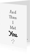Liefde kaarten - liefdekaart Met you