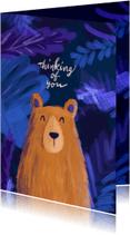 Liefde kaarten - Liefdeskaart beer