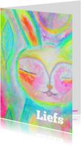 Vriendschap kaarten - Liefs knuffelkonijn