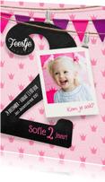 Kinderfeestjes - Lieve uitnodiging 2 jaar meisje