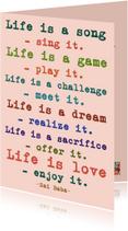 Verjaardagskaarten - Life is a song, sing it!